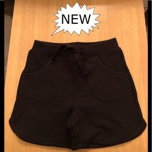 Shorts for Boys/Girls, Black Drawstring, NWT.